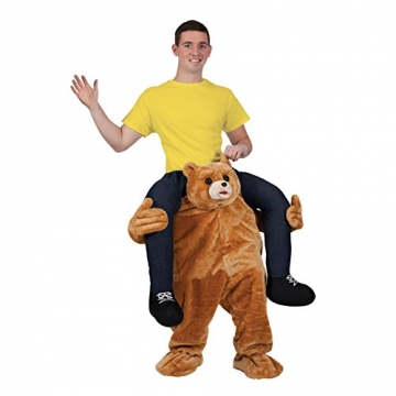 CUTE TEDDY BEAR CARRY ME MASCOT FANCY DRESS COSTUME - 1
